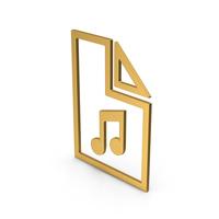 Symbol Music File Gold PNG & PSD Images