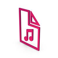 Symbol Music File Metallic PNG & PSD Images