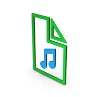 Symbol Music File Colored Metallic PNG & PSD Images