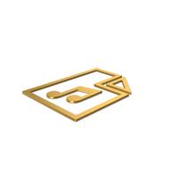 Gold Symbol Music File PNG & PSD Images