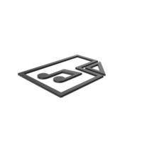Black Symbol Music File PNG & PSD Images