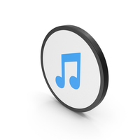 Icon Music Note Blue PNG & PSD Images