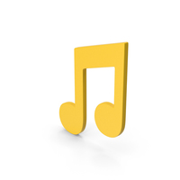 Symbol Music Note Yellow PNG & PSD Images