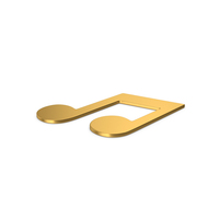 Gold Symbol Music Note PNG & PSD Images