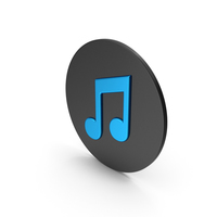Music Note Blue Icon PNG & PSD Images