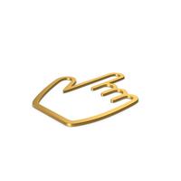 Gold Symbol Hand Cursor PNG & PSD Images