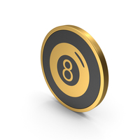 Gold Icon Magic 8 Ball PNG & PSD Images