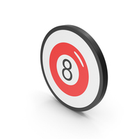 Icon Magic 8 Ball Red PNG & PSD Images