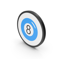 Icon Magic 8 Ball Blue PNG & PSD Images