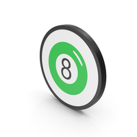 Icon Magic Ball Green PNG & PSD Images