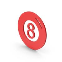 Symbol Magic 8 Ball Red PNG & PSD Images