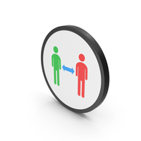 Icon People Connection Colored PNG & PSD Images