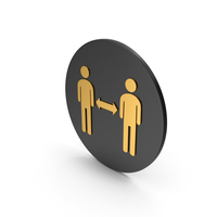 People Connection Gold Icon PNG & PSD Images