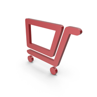 Shopping Cart Red Symbol PNG & PSD Images