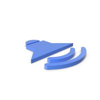 Symbol Sound Blue PNG & PSD Images
