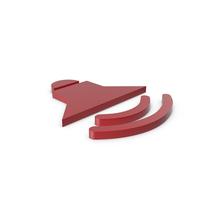 Symbol Sound Red PNG & PSD Images