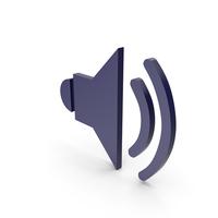 Symbol Sound Dark Blue PNG & PSD Images
