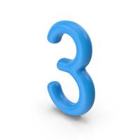 Number 3 Blue PNG & PSD Images