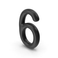 Number 6 Black PNG & PSD Images