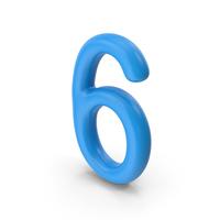 Number 6 Blue PNG & PSD Images