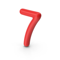 Number 7 Red PNG & PSD Images