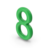 Number 8 Green PNG & PSD Images