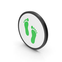 Icon Footprint Green PNG & PSD Images