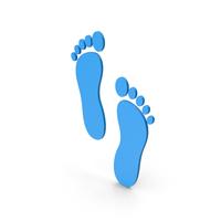 Symbol Footprint Blue PNG & PSD Images