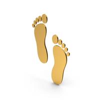 Symbol Footprint Gold PNG & PSD Images