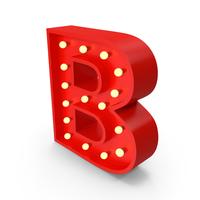 Bulb Letter B PNG & PSD Images