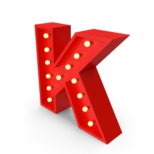 Bulb Letter K PNG & PSD Images