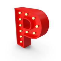 Bulb Letter P PNG & PSD Images