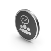 Silver Icon People Talking PNG & PSD Images