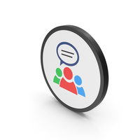 Icon People Talking Colored PNG & PSD Images