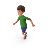 Cartoony Boy Sprinting PNG & PSD Images