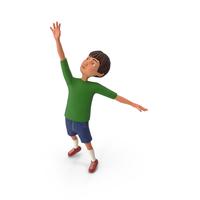 Cartoony Boy Reaching PNG & PSD Images