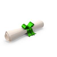 Cartoon Diploma Green PNG & PSD Images