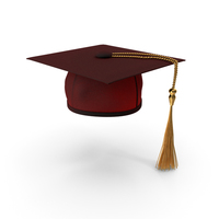 Red Graduation Hat PNG & PSD Images