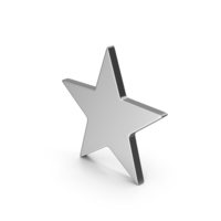 Symbol Star Silver PNG & PSD Images