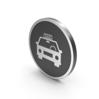Silver Icon Taxi PNG & PSD Images