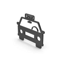 Symbol Taxi Black PNG & PSD Images
