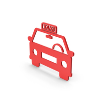 Symbol Taxi Red PNG & PSD Images