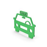 Symbol Taxi Green PNG & PSD Images