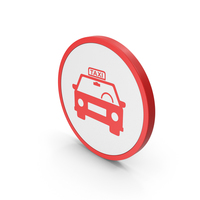 Icon Taxi Red PNG & PSD Images