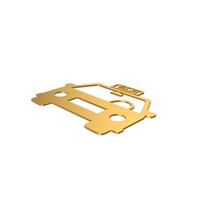 Gold Symbol Taxi PNG & PSD Images