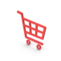 Symbol Shopping Cart Red PNG & PSD Images