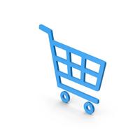 Symbol Shopping Cart Blue PNG & PSD Images