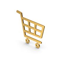 Symbol Shopping Cart Gold PNG & PSD Images