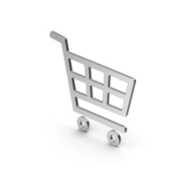 Symbol Shopping Cart Silver PNG & PSD Images