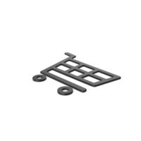 Black Symbol Shopping Cart PNG & PSD Images